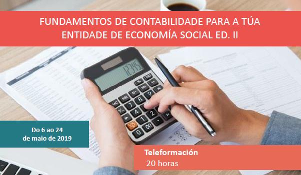 Fundamentos de contabilidade para a túa entidade de economía social Ed. II
