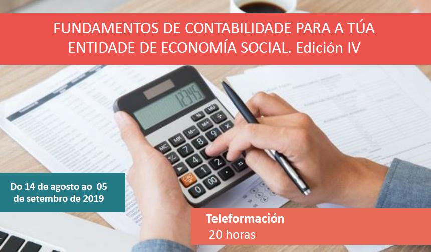 Fundamentos de contabilidade para a túa entidade de economía social. Ed IV